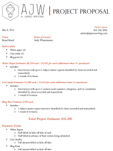 Freelance bid letter example
